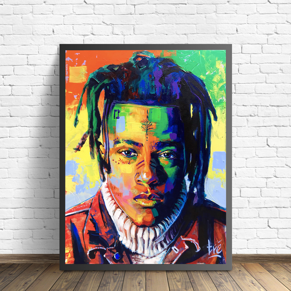 XXXtentacion Canvas Painting Figure Picture Wall Art Portrait Home Decor Paintings Abstract Star Picture Art Poster And Prints