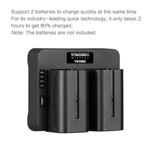 Image 3 - YONGNUO YN750C Lithium Battery Charger Dual Channel Battery Fast Charge Compatible for Sony NP F750 NP F950/B NP F530 NP F550