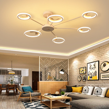 цена на Omicron Nordic White Black Led Chandeliers Living Room Bedroom Chandeliers Creative Home Lighting Creative Fixtures
