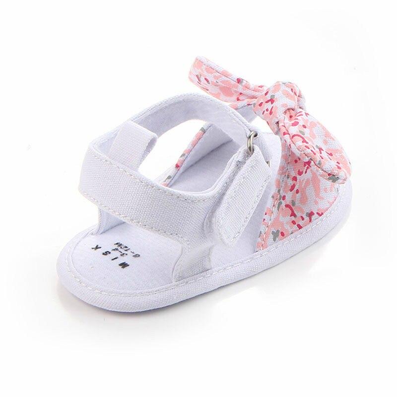 MAYA STEPAN 1 Pair Children Baby Kids Boys Girls Shoes Non-Slip Canvas Bowknot Toddlers Newborn Infantil Sandals 4