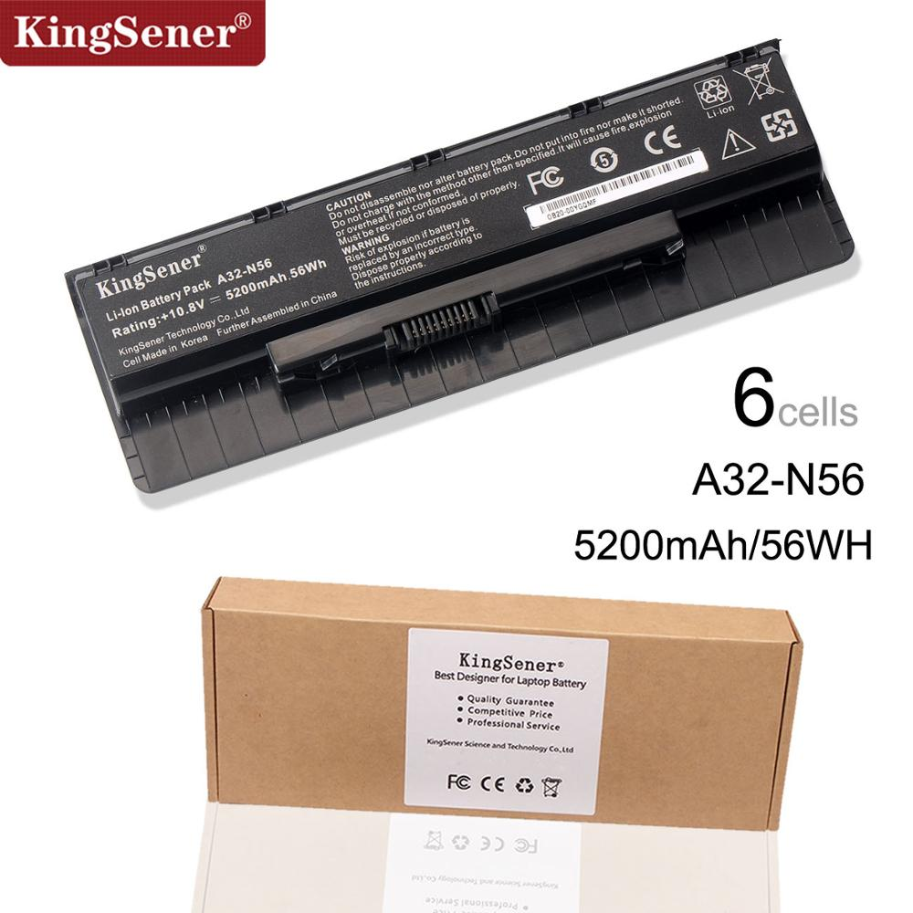 باتری 10.8V 5200mAh Korea Cell New A32-N56 برای ASUS N46 N46V N46VJ N46VM N46VZ N56 N56V N56VJ N56VM N76 N76VZ A31-N56 A33-N56
