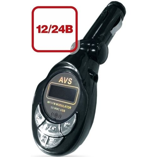 Фото - MP3 Player + FM transmitter with display and remote control AVS F-508S 4 in 1 0 6 lcd car mp3 player fm transmitter w 3 5mm audio plug black dc 12v 63cm cable