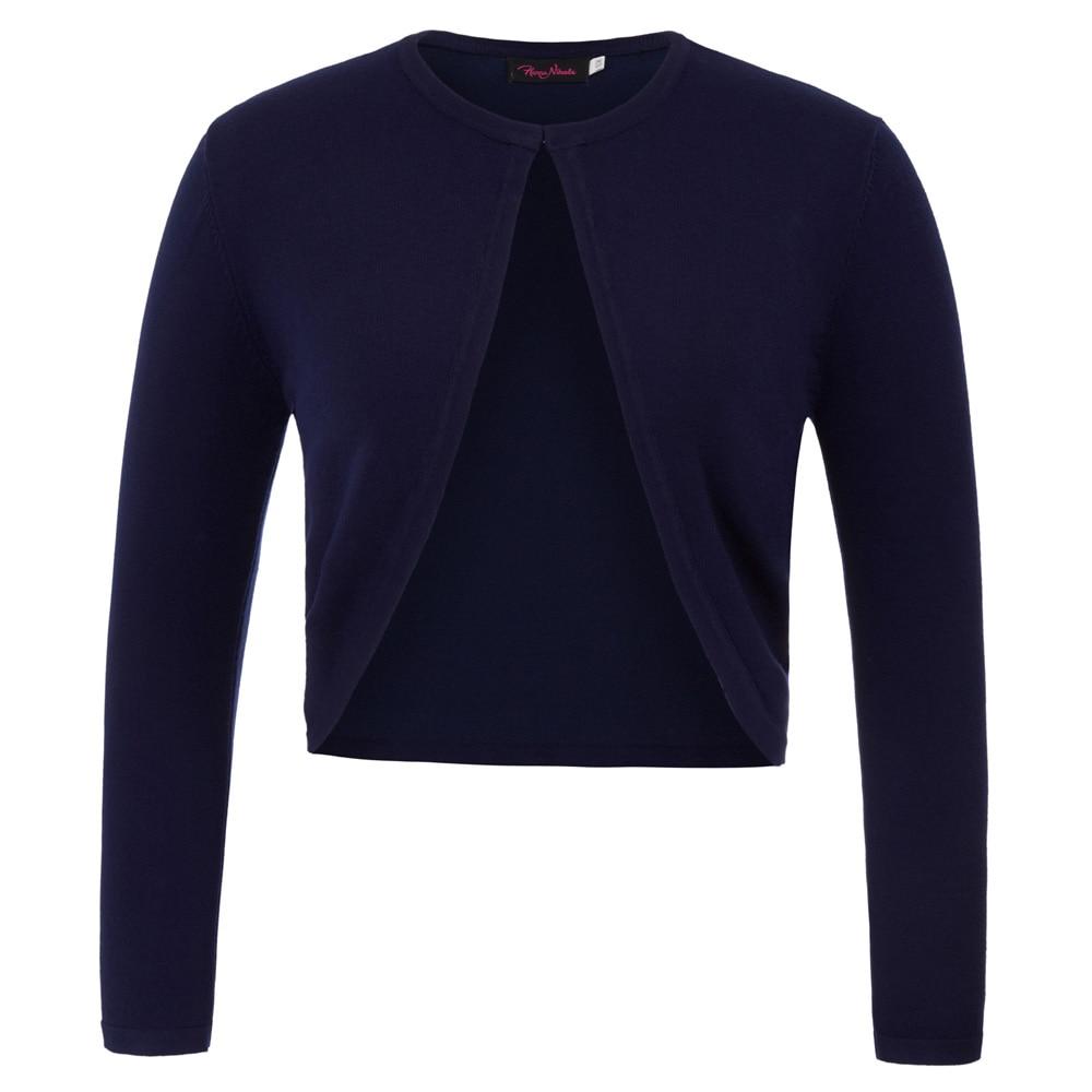 Basic     Jacket   Women's Plain Long Sleeve Irregular Hem Bolero Shrug Cropped Tops