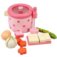 Kids girl's Wooden toys Pretend Play kitchen toys Vegetable education food toys for children Mother together toy