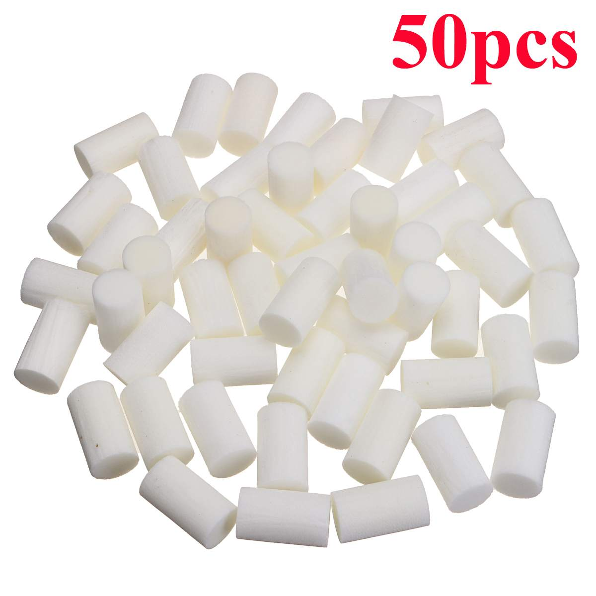 New 50pcs High Pressure Pump Filter Element Refill 30MPa 35*20mm White Fiber Cotton Filters For Air Compressor System