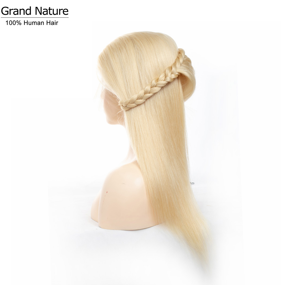 613 Blonde Straight Full Lace Human Hair Wigs Malaysian Human Hair Wig For Women Full And Thick Transparent Lace Wig 8-28inch