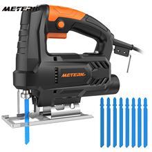 Meterk Электрический лобзик для металла, дерева Многофункциональный резак с 4 шт. пилы по дереву веб-4 шт. HSS стали пилы полотна лобзика