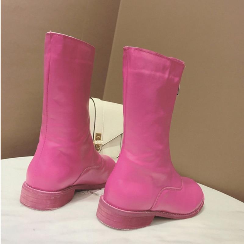 Air Léger Audorci Taille 2018 Martin black Qualité rose 39 Femelle Femmes Mode Red Femme Beige En Plein Couleur Chaussures 35 Bottes Waling Boot 3 Casual Haute rCZq8wHr
