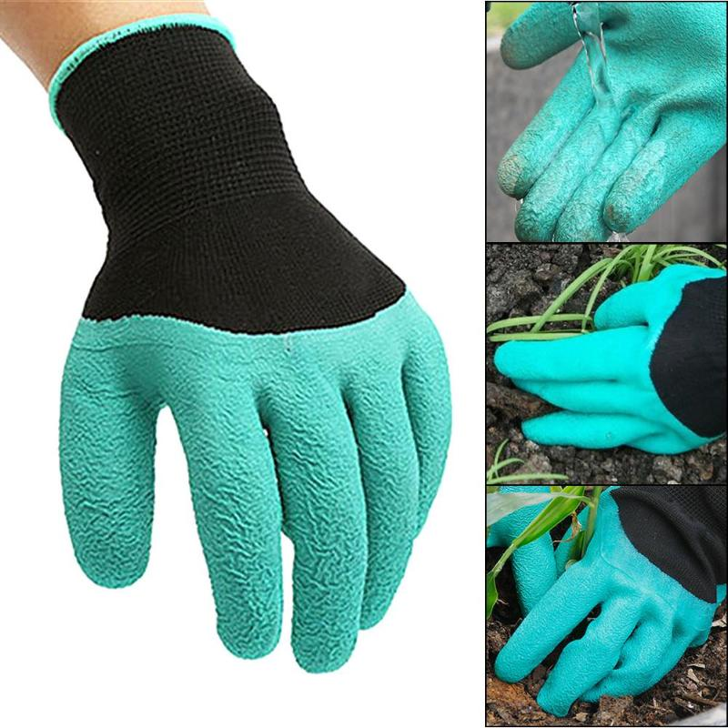 Garden Gloves 4 Hand Claw Abs Plastic Rubber Gloves Quick Excavation Plant Waterproof Insulation Home Living Essential Gadgets Reputation First Garden Gloves