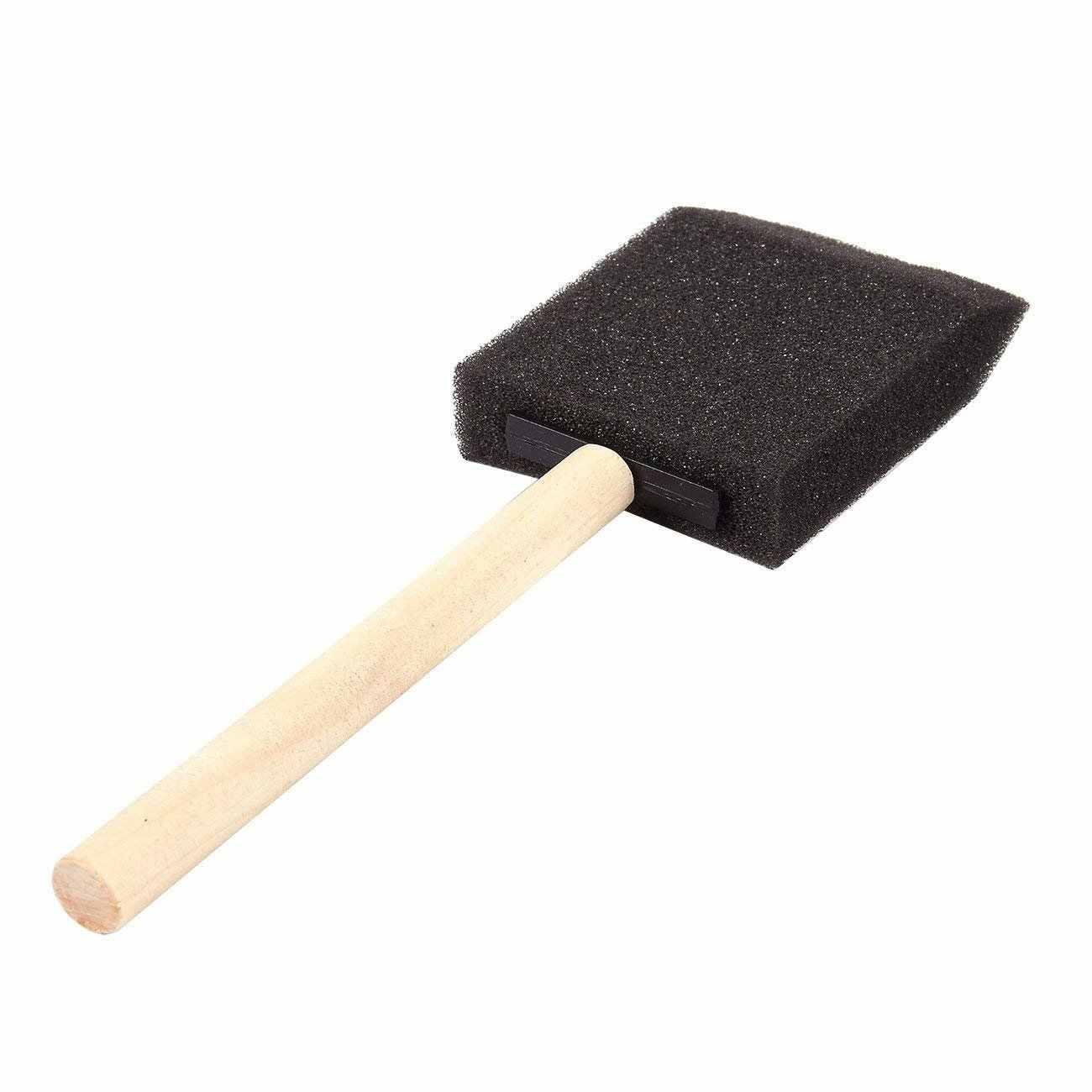 2 дюйма поролонная губка деревянная кисть для краски комплект (экономичная упаковка мембранного указателся 40)-легкий, прочный и отлично подходит для акрила, Красители, Varni