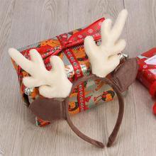 1 шт. рога оленя для волос обруч олень милый Регулируемый Лось фото принадлежности резинки для волос головной убор аксессуары для рождественского костюма Вечерние