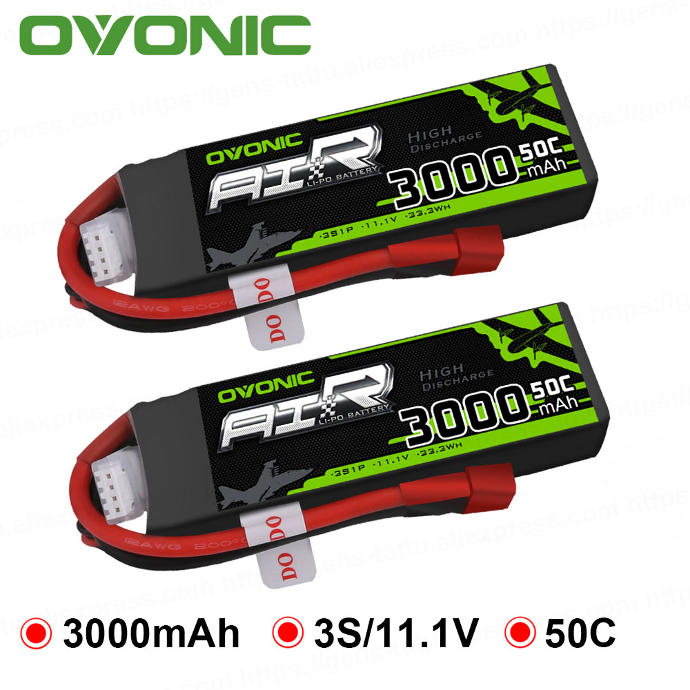 2x HRB 11.1V 3S 5000mAh 50C 100C Lipo Battery for RC Drone Plane Car Helicopter