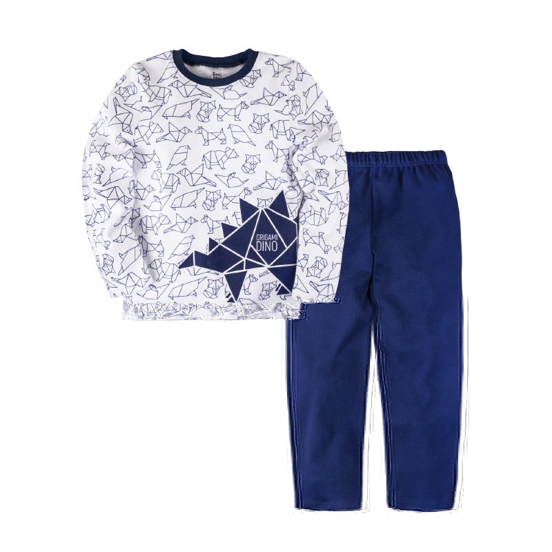 Pajama set shirt+pants for boys BOSSA NOVA 362o-371 pajama pants and jumper friends 3 8g 95% cotton 5% elastane