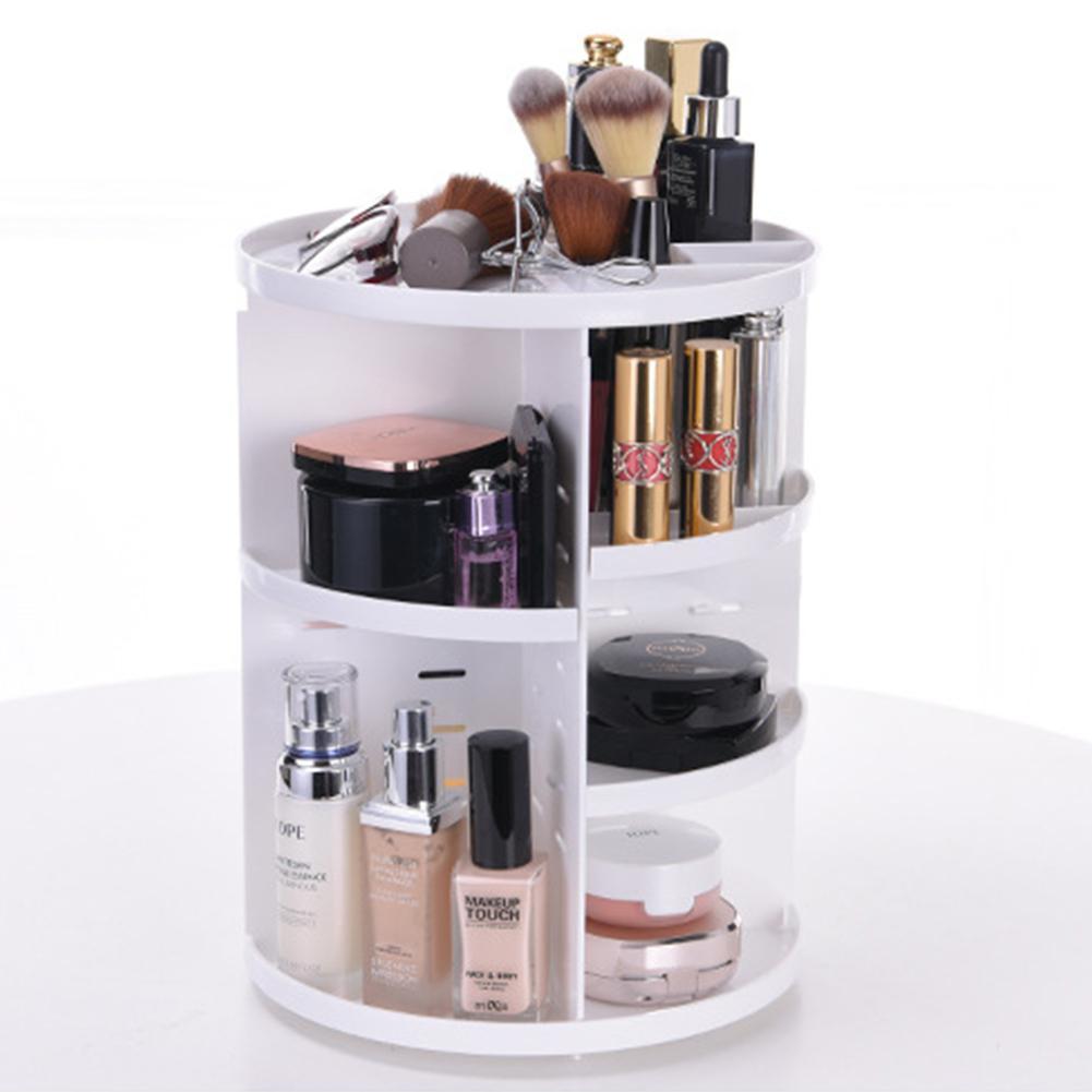 Adeeing Makeup Organizer 360 Degree Rotation Cosmetic Storage Box Jewelry Box Lipstick Holder