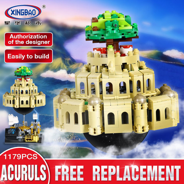 Xingbao 05001 Creative Series The Castle City In The Sky Set Competible With LP Moc Children Educational Blocks Bricks Gift