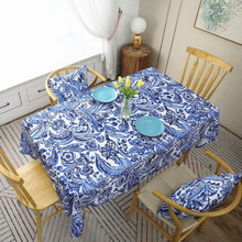 New Tablecloth  Waterproof Modern Rectangulaire Printed Party Table Cloth For Dinner Home Decoration Cover
