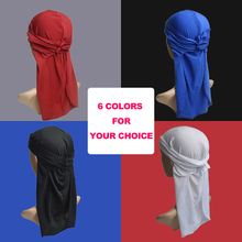 UUnisex Silky durag Bandana Hat Durag hip hop headwrap Bandanas Doo DU-RAG Long Tail velvet