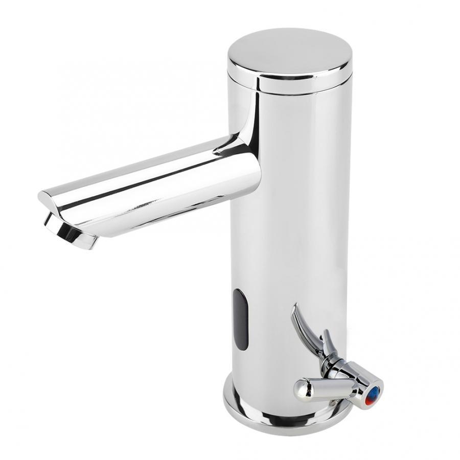 Robinet de lavabo en cuivre capteur infrarouge automatique chaud et froid pour salle de bain cuisine mitigeur en laiton chromé