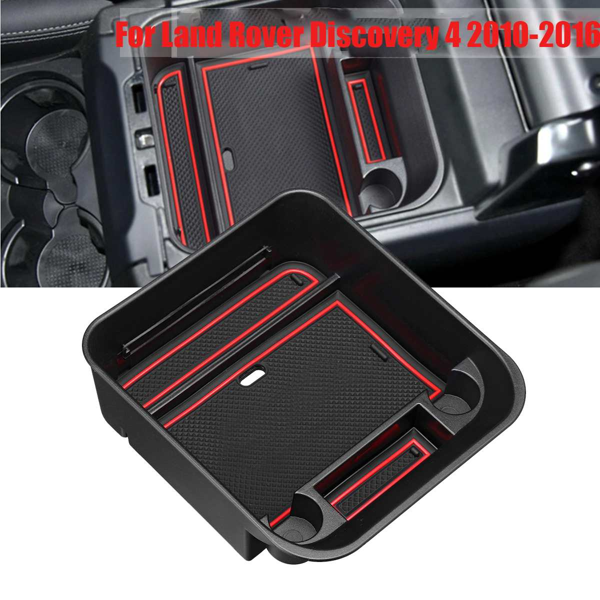 RETYLY Car Organizer Central Car Storage Box Armrest Container Box For Discovery 4 2010-2016 Auto Interior Accessories