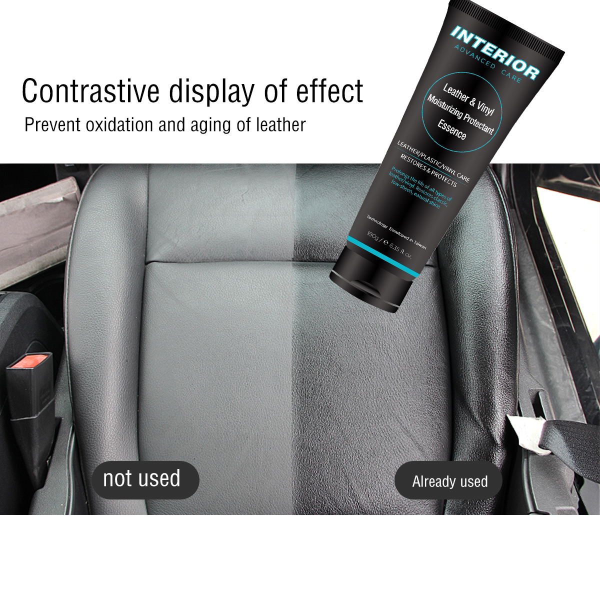 Image 4 - Auto interior Advanced care Leather Moisturizing protectant Essence For Car Interiors/Furniture +12pcs Soft Waxing Foam Sponge-in Leather & Upholstery Cleaner from Automobiles & Motorcycles