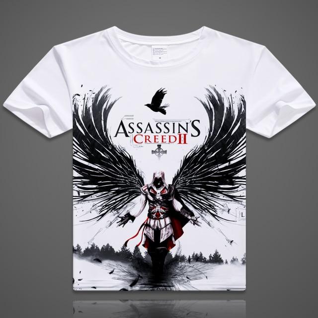 newest cartoon tshirt anime printing casual tshirt for men T shirts ezio shirts men fashion t shirts