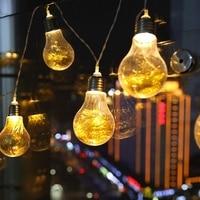 3m 20 Led Wedding String Fairy Light Christmas Led Globe Festoon Bulb Led Fairy String Light Outdoor Party Garden Garland
