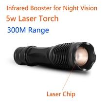 Wildgameplus laser ir tocha 350m faixa ajustável feixe infravermelho caça visão noturna escopo ir lanterna 850nm invisable