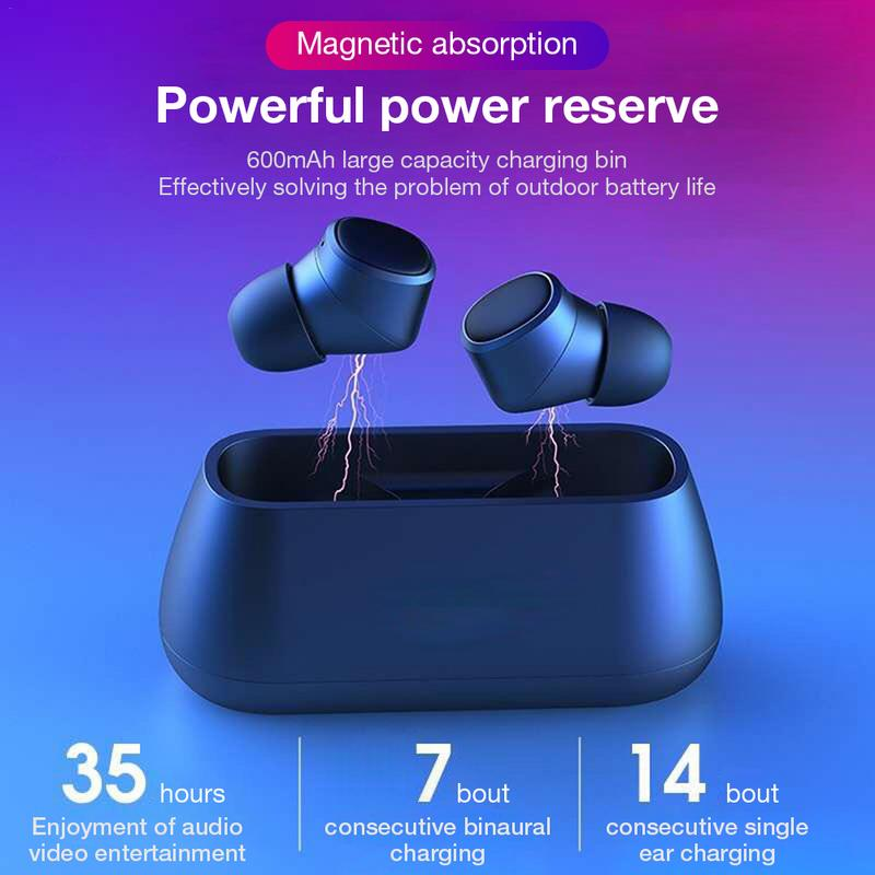 i4 Bluetooth Earphone BT 5.0 Headset TWS Swimming Earphone Dual Microphone Wireless Stereo 3D Swimming Headset One Touch