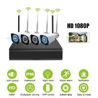 1080 P наружная камера видеонаблюдения Wi Fi камера беспроводная система видеонаблюдения камера безопасности 4CH NVR IP IR CUT ip система безопасности