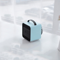 Mini negative Ion LED fan air humidifier New style portable handheld desk fans cooler air conditioner