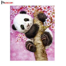 HUACAN Diamant Malerei Cartoon Panda Voller Runde Strass Kreuz Stich 5D DIY Diamant Stickerei Malerei Wand Aufkleber MH012(China)
