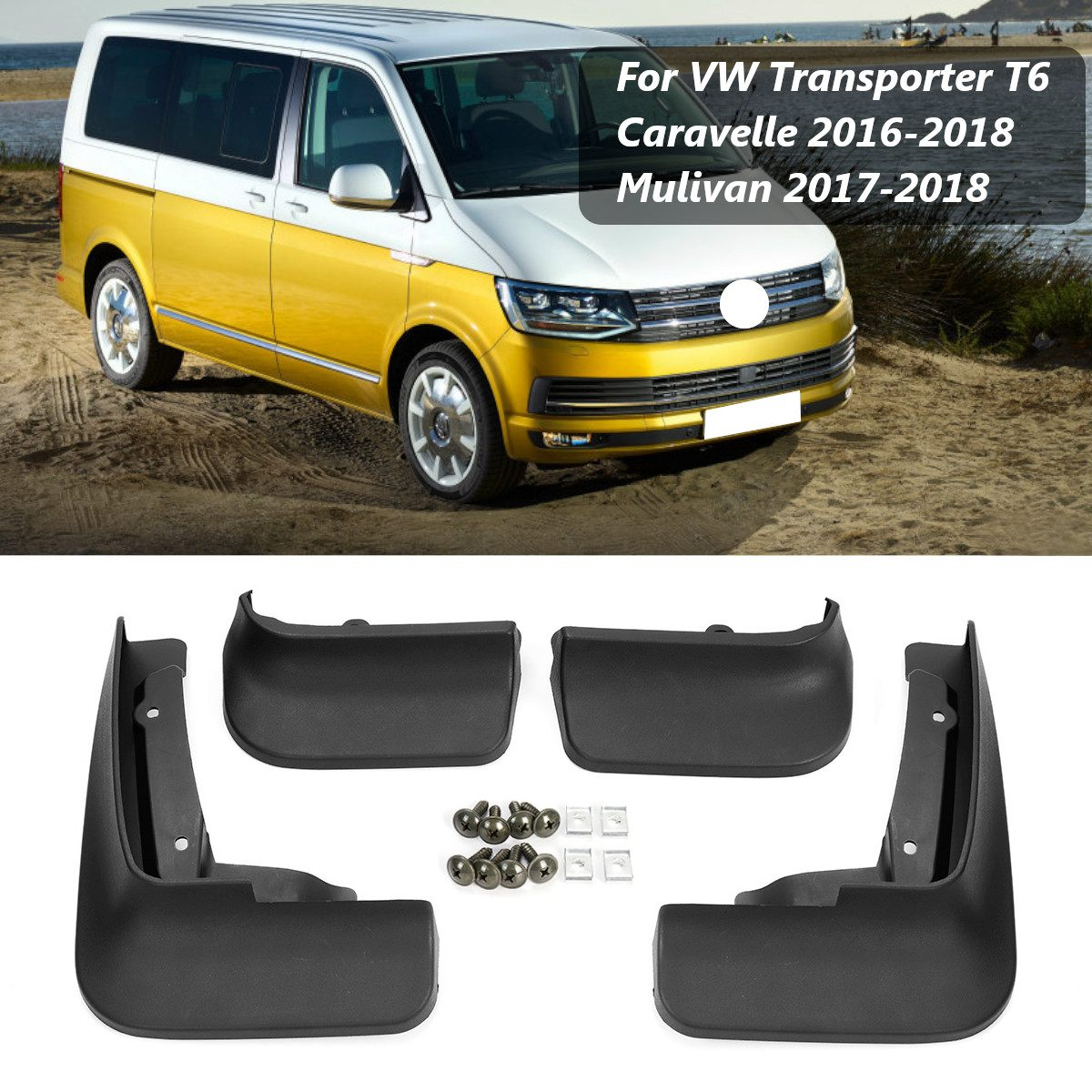 Car Mud Flaps Splash Guards for Fender Mudflaps Mudguards For VW Transporter T6 Caravelle 2016 2017 2018 Mulivan 2017 2018-in Mudguards from Automobiles & Motorcycles