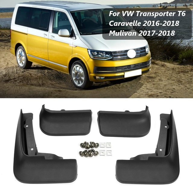 اللوحات الطينية للسيارة لـ VW الناقل T6 كارافيل مولتيفان 2004 2019 واقيات الطين واقيات الطين والرذاذ واقيات الطين