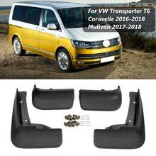 VW Transporter T6 Caravelle Multivan 2004 2019 Mudguards 스플래쉬 가드 Fender Mudflaps 용 자동차 머드 플랩