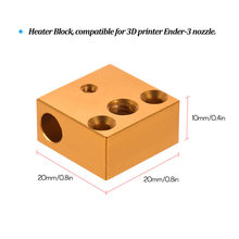 3D Printer Part Heater Block for Creality Ender3 3D Printer Extruder Nozzle Hotend Kit 20 * 20 * 10mm(China)