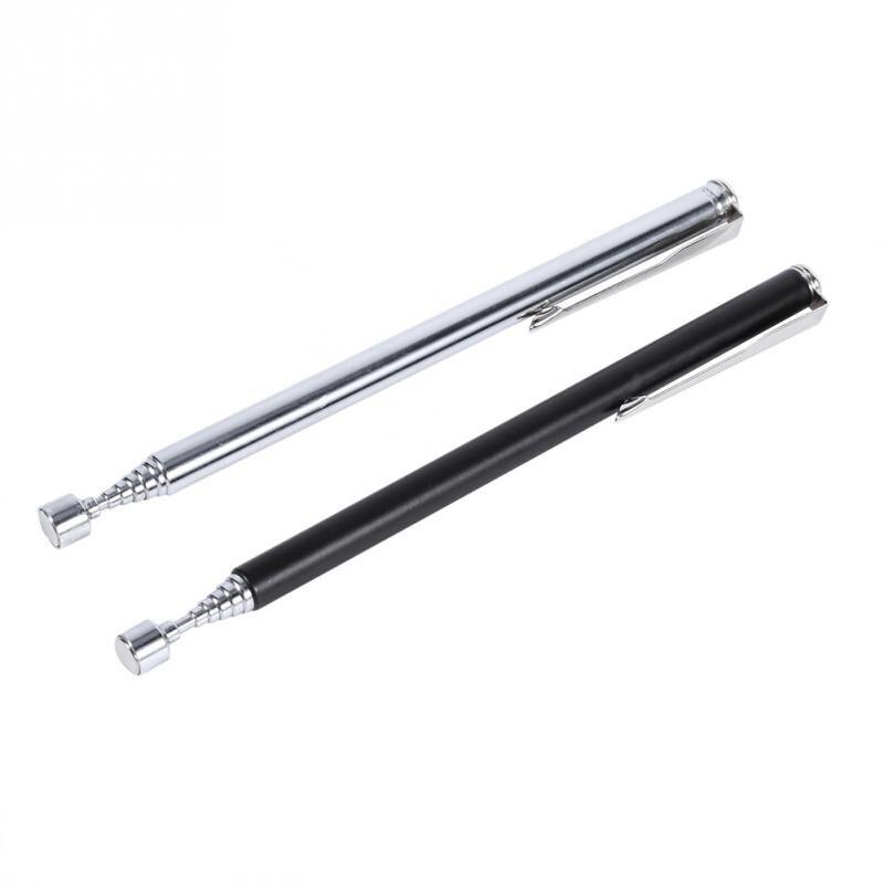100% Kwaliteit Draagbare Magnetische Pick Up Staaf Metalen Uitbreiding Magneet Pick Up Handheld Tool Telescopische Gemakkelijk Magnetische Pick-up Stok Zilver /zwart