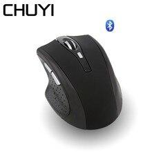CHUYI Беспроводная Bluetooth мышь Эргономичный перезаряжаемый беззвучная мышка 1600 dpi оптическая мышь с опорой для запястья коврик для мыши для ПК ноутбука