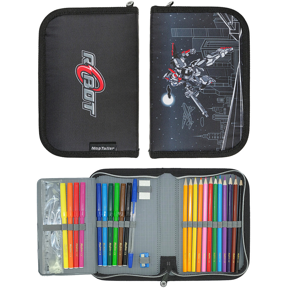 Pencil Cases MAGTALLER 11154888 school supplies stationery pencil cases for girls and boys drawing a5 dokibook notebook candy color agenda planner organizer diary with rope gift notepad stationery office school supplies