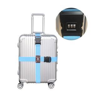 Открытый Мульти-инструмент пароль Противоугонный замок съемный крест-накрест ремень багажная упаковка длинный чемодан ремень для багажно...