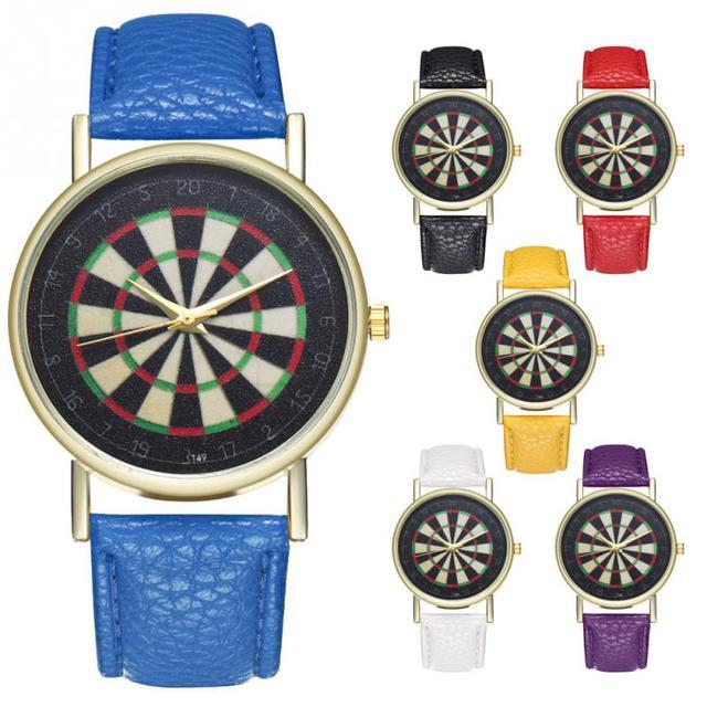 Zhoulianfa Vintage Darts Dial Alloy Quartz Couple Watch PU Strap Wristwatches