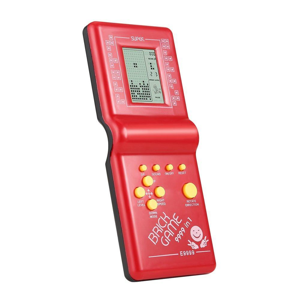 Kids Electronic Tetris Brick Game Handheld Classic Brick Game Machine LCD Educational Toy Different Pattern Improve Intelligence