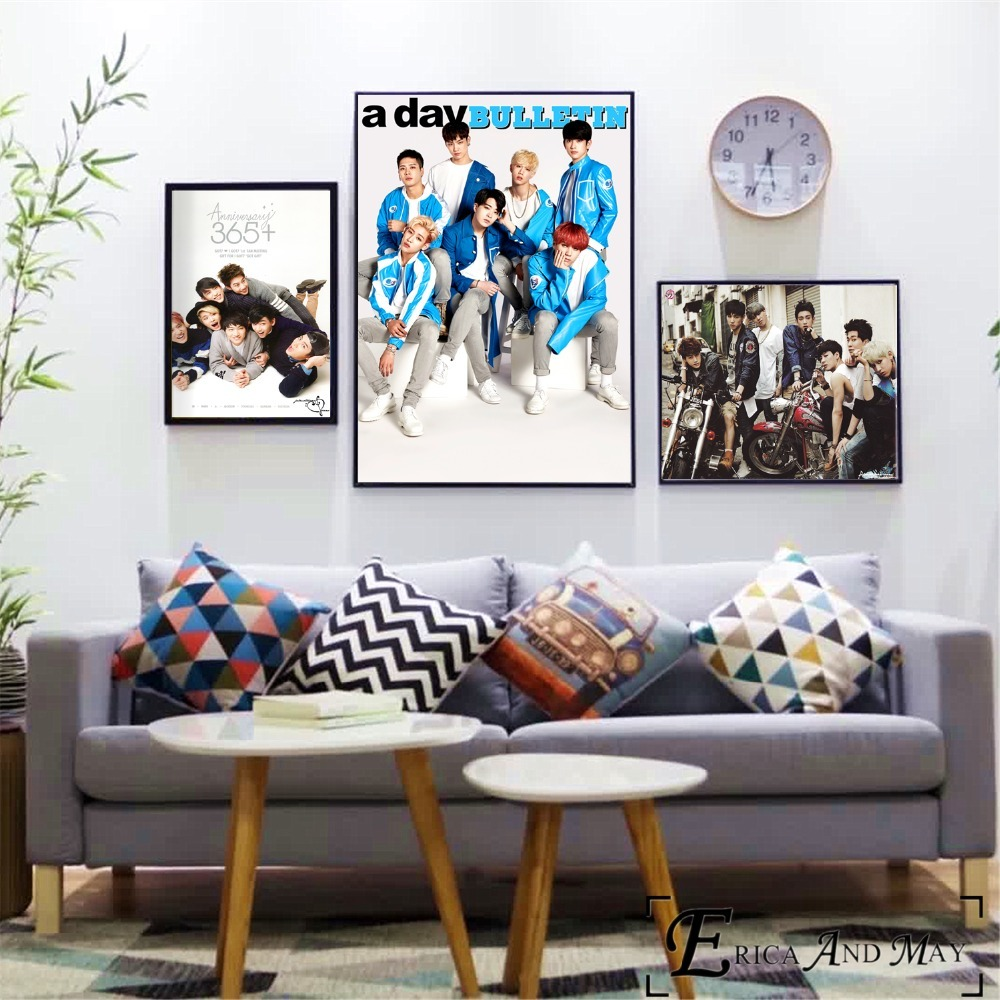 GOT7 Music Kpop BTS Photography Posters and Prints Canvas Art Print Painting Wall Pictures Home Decoration Wall Decor No Frame