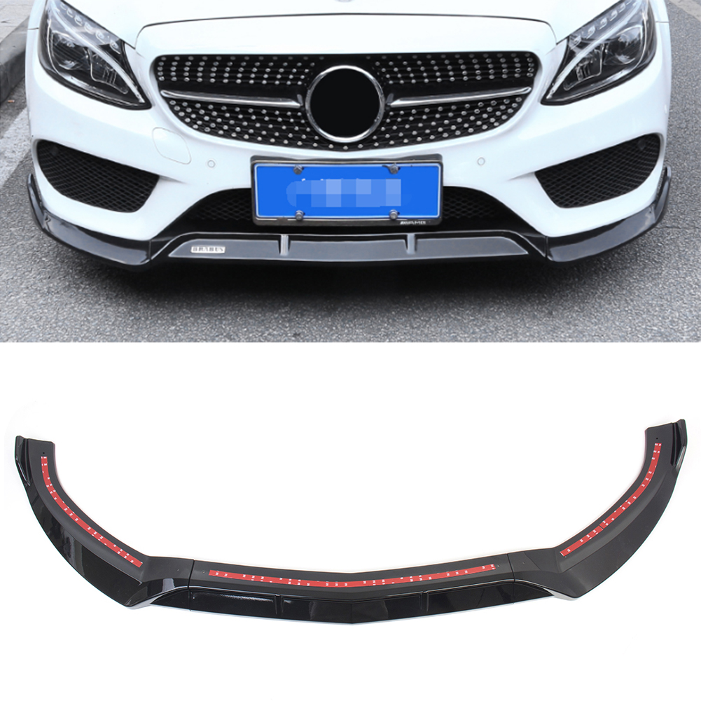Front Bumper Lip Cover Trims For 2015 2016 2017 2018 Benz C Class W205 Sport DP