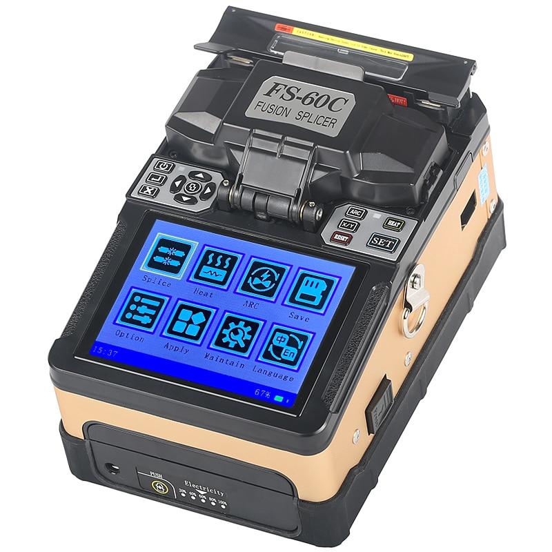 Novo padrão De Fibra Óptica FTTH Splicer Fusão de Fibra Óptica Máquina de Emenda da Soldadura FS-60C