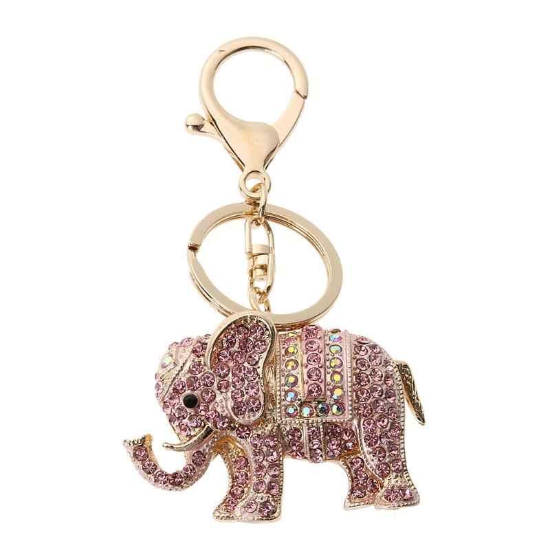 Elefante Chaveiro das mulheres de Strass Cristal Chaveiro Bolsa Chave Titular Pingentes Meninas Bolsa Charme Pingente Acessórios Chave Do Carro