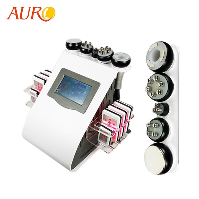 Au 61B Free Shipping AURO 6 in 1 Cavitation Liposuction 40K Vacuum Weight Loss Radio Frequency