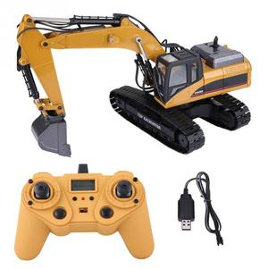 Image 2 - HUINA 1580 2.4G 1:14 23CH 3 in 1 Rc Hydraulic Excavator Electric Model Excavator Engineering Vehicle Remote Control Truck Autos