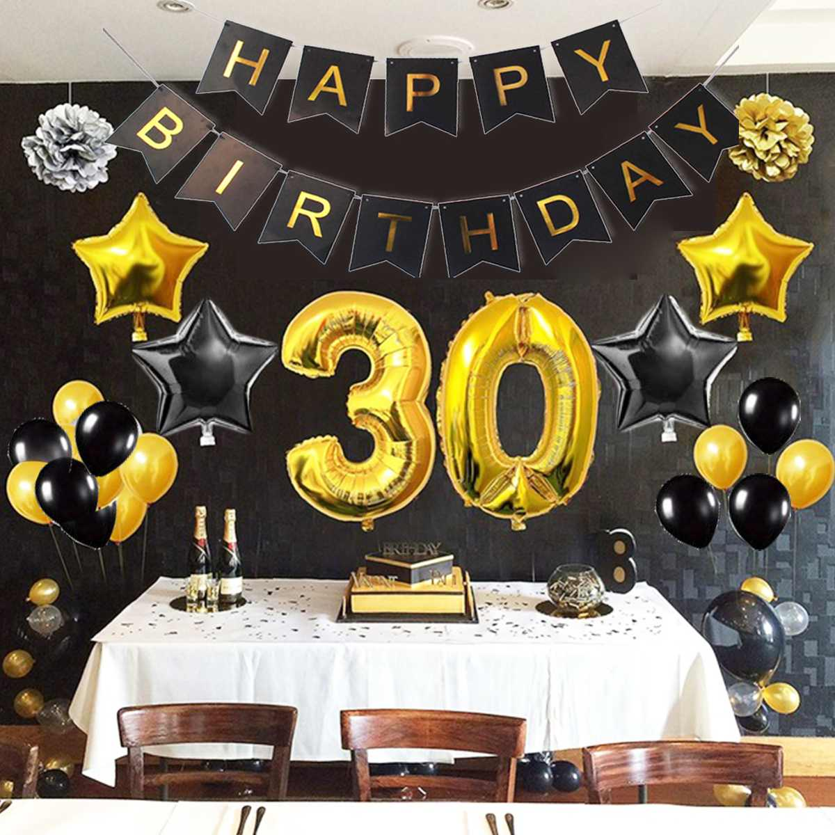 1/30/40/50/60/70/80 Foil Balloons Set Adult Kid Birthday Banner Inflatable & Reusable Party Decoration No need to Tie Knots1/30/40/50/60/70/80 Foil Balloons Set Adult Kid Birthday Banner Inflatable & Reusable Party Decoration No need to Tie Knots