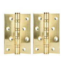 180 degree door hinge 2pcs Thickening Polished Stainless Steel Bearing Hinge Gold for Interior Door hinges antique цена и фото