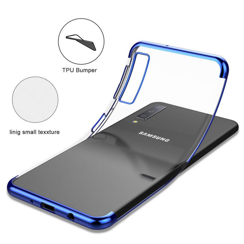 Slim Plating Case For Samsung S10 E Plus A9S A7 A9 2018 For Galaxy S9 S8 J4 J6 J8 A6 A8 Plus Soft Silicon Clear Back Cover